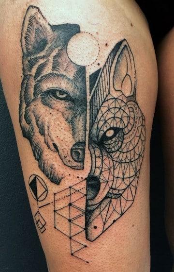 tatuajes de animales geometricos grandes