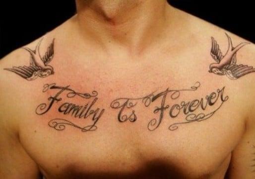 tatuajes de familia para hombres tipograficos