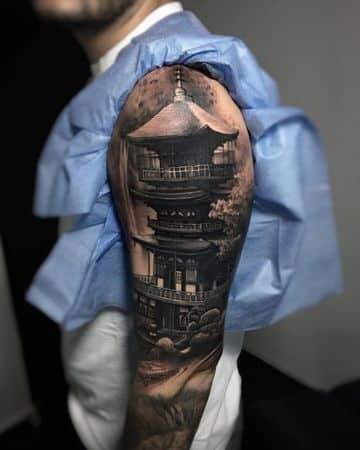 tatuajes de templos chinos tradicionales