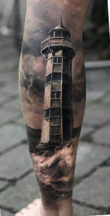 tatuajes relacionados con el mar faro