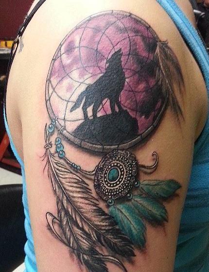 tatuajes de atrapasueños a color para hombres