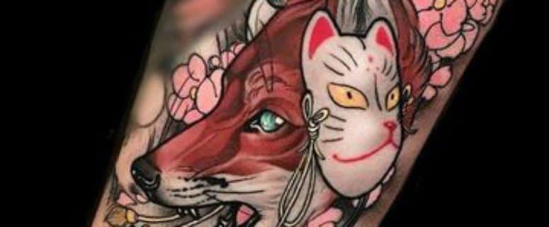Coloridos Y Originales Tatuajes De Mascaras Japonesas
