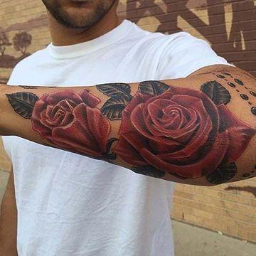 Tatuajes De Flores Para Hombres En El Brazo La Piel Tatuajes De