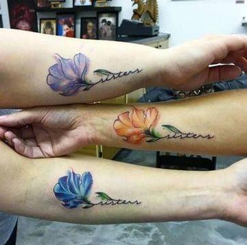 tatuajes para 3 personas a color