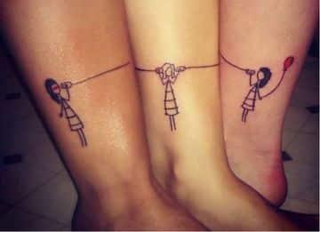 tatuajes para 3 personas