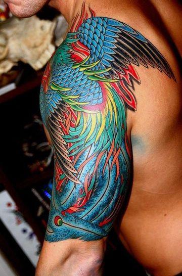 tatuajes a color para hombres en el brazo