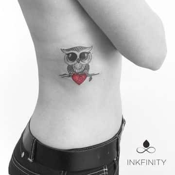 tatuajes de buhos para mujeres en el cuerpo