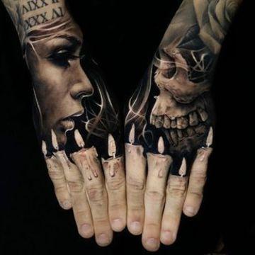 tatuajes de dioses griegos en las manos