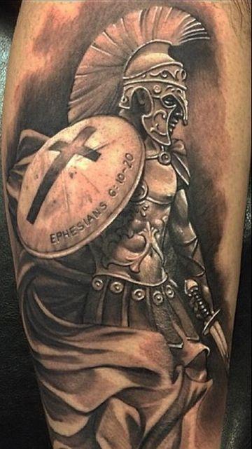tatuajes de gladiadores romanos cuerpo completo