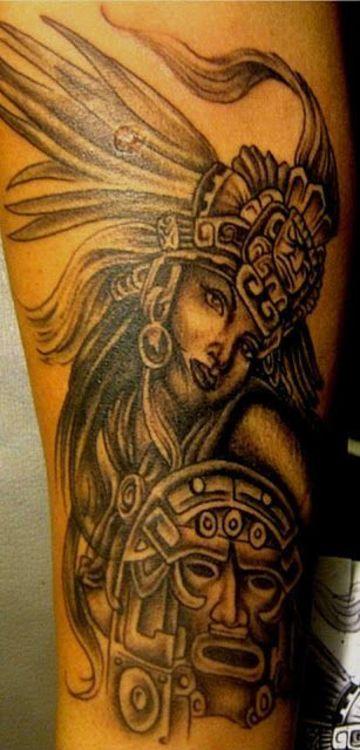 tatuajes de mujeres guerreras aztecas