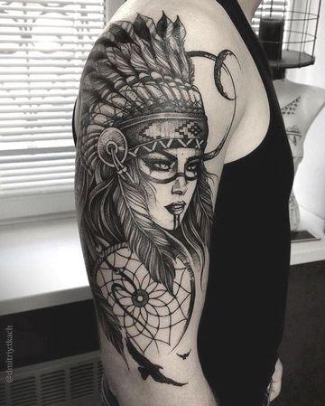 tatuajes de mujeres guerreras indias
