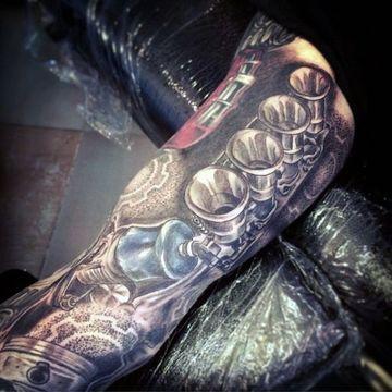 tatuajes de partes de motores a color