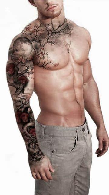 tatuajes chidos para hombres hombro y brazo