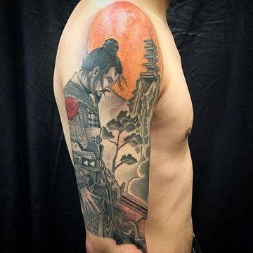 tatuajes chinos para hombres de samurai