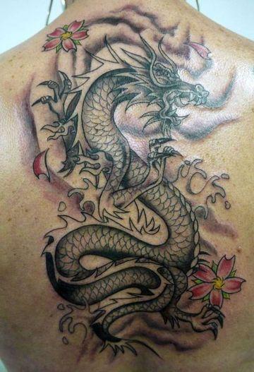 tatuajes chinos para hombres en la espalda