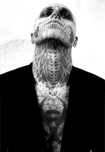 tatuajes en el cuello para hombres increibles