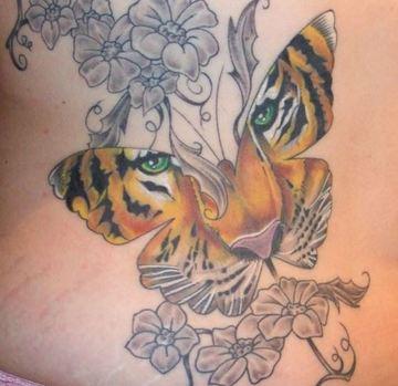 tatuajes de caras de tigres para mujeres
