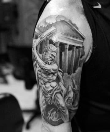 tatuajes de dioses del olimpo antebrazo