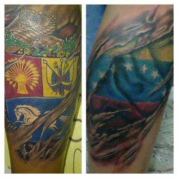 tatuajes de la bandera de venezuela y escudo