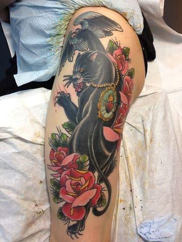 Tradicionales Y Realistas Tatuajes De Panteras Negras