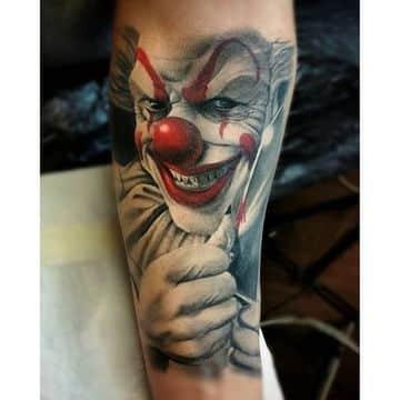 tatuajes de payasos diabolicos de hombres