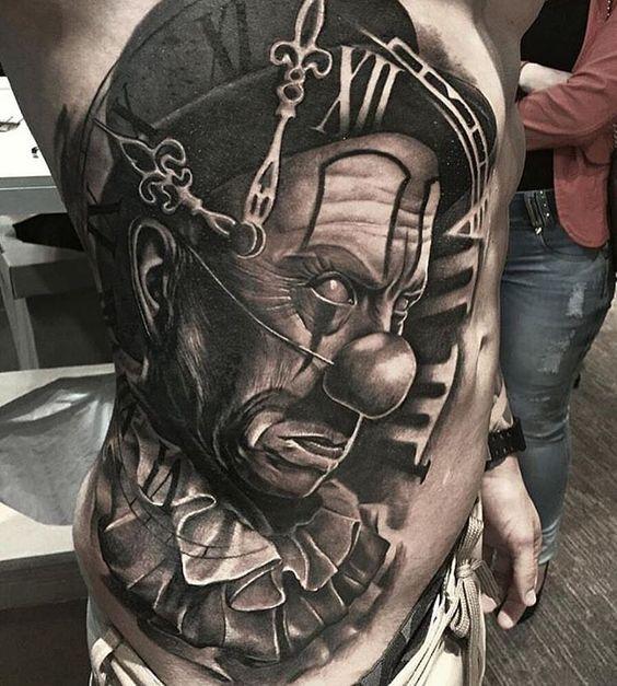 tatuajes de payasos diabolicos en el cuerpo