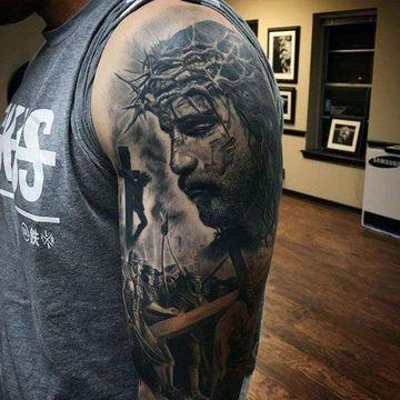 tatuajes en 3d de jesus para hombres