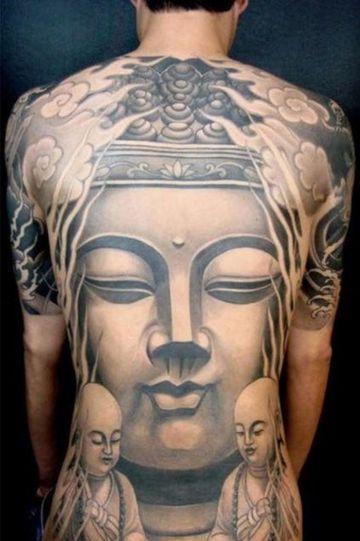 tatuajes grandes para hombres orientales
