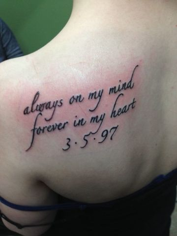 tatuajes para recordar a alguien de mujeres
