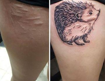 tatuajes que cubren cicatrices grandes