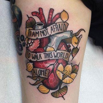 tatuajes que signifiquen soledad a color