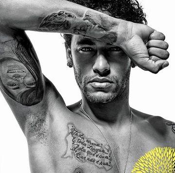 los mejores tatuajes de futbolistas Neymar Da Silva