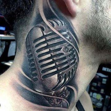 tatuajes bacanos para hombres en el cuello