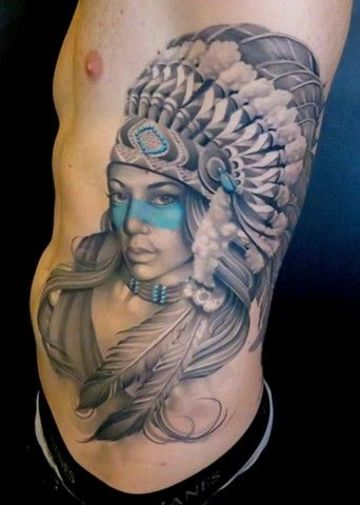 tatuajes de indias guerreras para hombres
