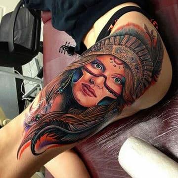 tatuajes de indias guerreras para mujeres