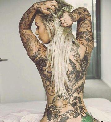 tatuajes exoticos para mujeres en brazos y espalda