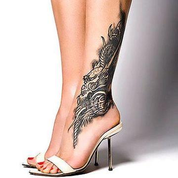 tatuajes exoticos para mujeres en la pierna