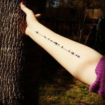 tatuajes para brazos delgados de aves