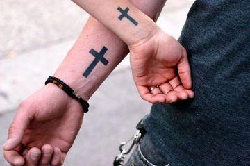 tatuajes religiosos en el brazo para parejas