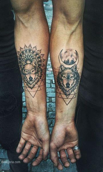 tatuajes de amigos hombres de lobos