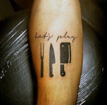 tatuajes de cocina para hombres en el brazo
