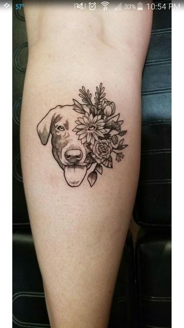 tatuajes de perros labradores para mujeres