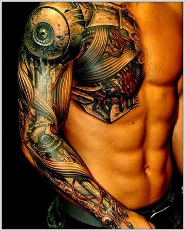 tatuajes para hombres en el hombro 3d increible