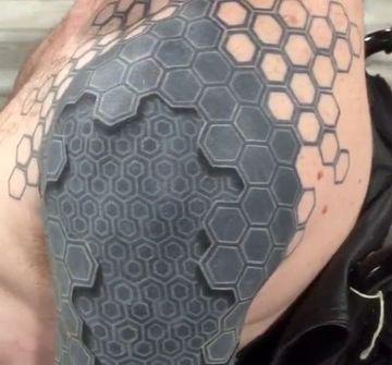 tatuajes para hombres en el hombro 3d