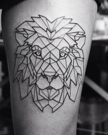 animales con figuras geometricas en la pierna