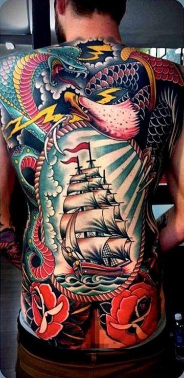 los mejores tatuajes japoneses del mundo en la espalda