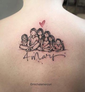 tatuajes alusivos a la familia en la espalda