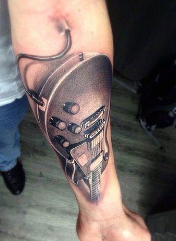 tatuajes de guitarras electricas 3d