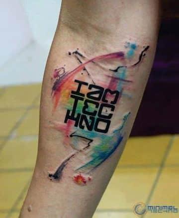 tatuajes de musica electronica de hombres
