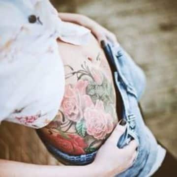 tatuajes para el abdomen de mujer a color